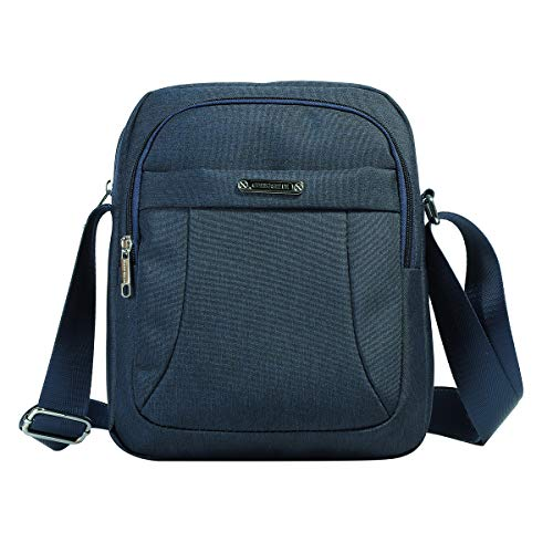 Men's Messenger Bag-Crossbody Shoulder Bags Travel Bag Man Purse Casual College School Bookbag Sling Pack for Work Business (1602-2-Navy)