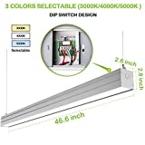 Hykolity LED Architectural Suspended Linear Channel Light Linkable, 4FT 40W 3000K/4000K/5000K CCT Selectable, Dimmable Office Lighting Fixture for Commercial Places, 4600lm, ETL, 1 Pack