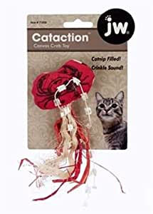 JW Pet Company Cataction Canvas Crab Toy for Cats