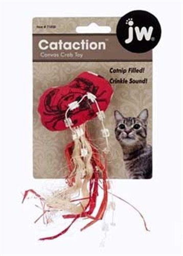 JW Pet Company Cataction Canvas Crab Toy for Cats, My Pet Supplies