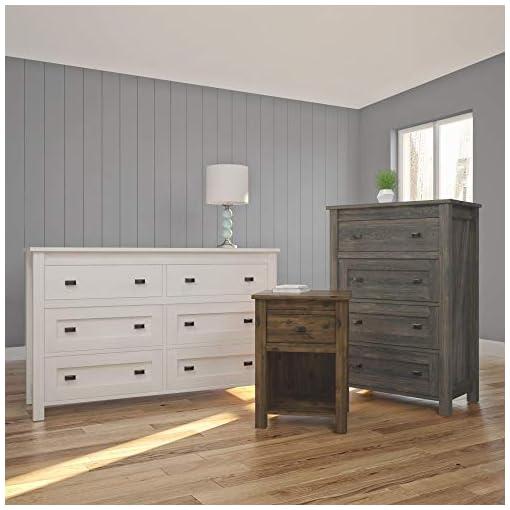 Bedroom Ameriwood Home Farmington Night Stand, Rustic ,Small, Century Barn Pine – farmhouse nightstands