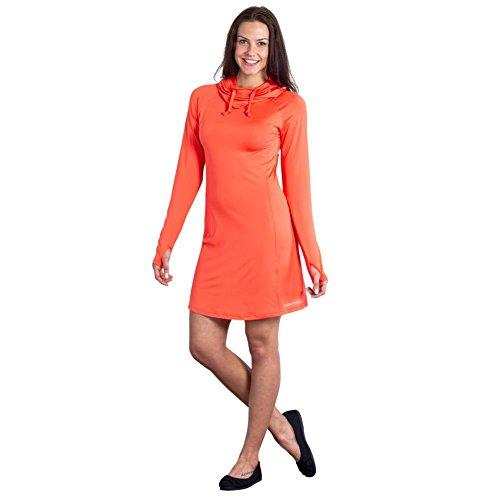 UPC 613543882844, ExOfficio Women's Sol Cool Hoody Dress, Hot Coral, X-Small
