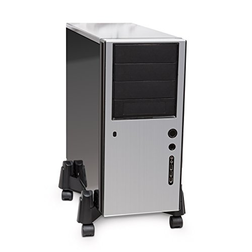 Adjustable Width ATX Computer Case Caddy Stand with 5 Caster Roller Wheels Foldable Flexible by Syba (Image #2)