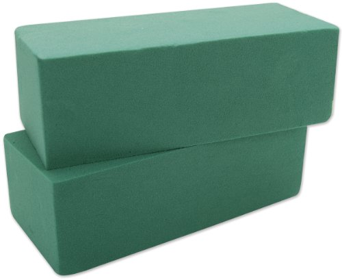 "FloraCraft Wet Foam Blocks 2-7/8""X3-7/8 X8-7/8 2/Pkg-Green from FloraCraft"