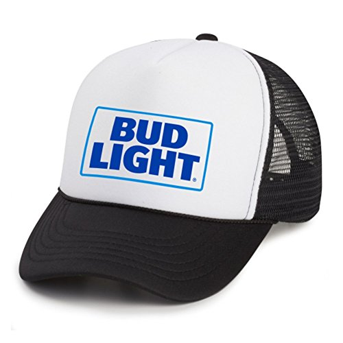 bud-light-mens-black-white-snapback-trucker-hat-cap-with-keychain-bottle-opener