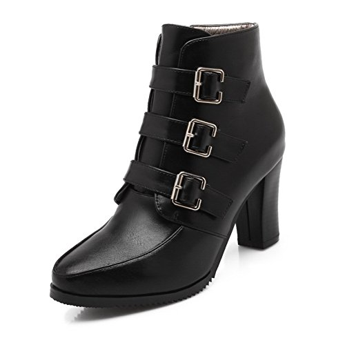 Womens Urethane Resistant Black BalaMasa ABL10351 Casual Boots Slip Buckle dtnXqT