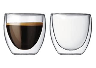 Bodum Pavina 2.5-Ounce Double-Wall Thermo Glasses (Espresso/Shot), Set of 2 (B000A5CLG6) | Amazon price tracker / tracking, Amazon price history charts, Amazon price watches, Amazon price drop alerts