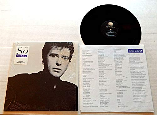 Peter Gabriel SO - Geffen Records 1986 - USED Vinyl LP Record - 1986 Pressing GHS 24088 IN SHRINK WRAP - Red Rain - Sledgehammer - In Your Eyes - Big Time - Don't Give Up