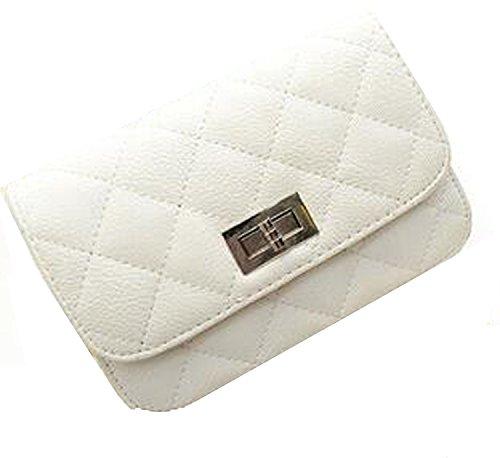 WiTa-Store - Cartera de mano con asa para mujer blanco H140 H140