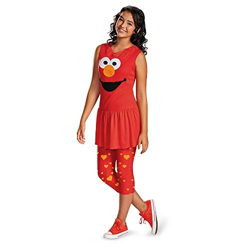 Disguise Sesame Street Elmo Tween Classic Tween Costume, Large/10-12 -