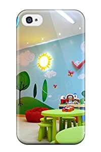 Diy Yourself - New Colorful Kids Playroom With Wall Mural And Hanging Chair IR4YKUcZkZZ protective Iphone 4/4s Classic Hardshell case cover