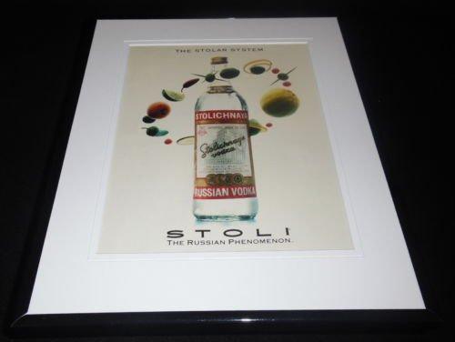 1993 Stolichnaya Vodka Framed 11x14 ORIGINAL Vintage Advertisement -