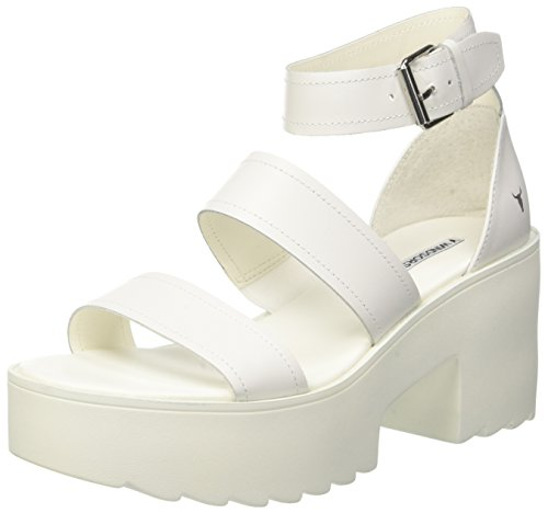 Ada Smith Open White Sandals Women's Windsor White 001 Toe HEwxqv74n7