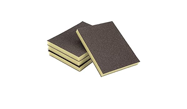 uxcell Sanding Sponge Sanding Blocks 100-Grits Coarse Grit Sand Block Pad for Kitchen Metal Drywall Wood 4pcs
