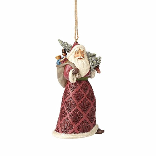 Enesco-Gift 4058757 Victorian Santa with Tree Ornament, Multi Color