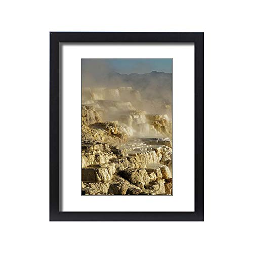 Media Storehouse Framed 20x16 Print of Canary Spring and Rocks, Yellowstone National Park, Montana (18245743)