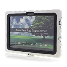 Gumdrop Cases Drop Tech Series Case for Asus EEE Pad Transformer TF101, White/Black (DT-ASUS-WHI-BLK)