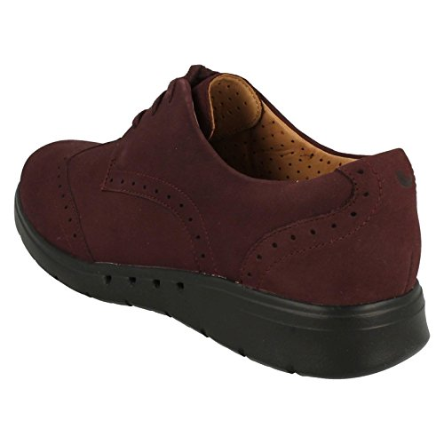 Clarks Un Hinton - Aubergine Leather 5 UK