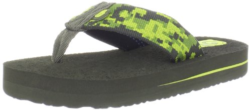 Ultimate Thong Flip Flop (Teva Mush II C's Flip Flop (Toddler/little Kid/Big Kid),Camo Green,8 M US Toddler)