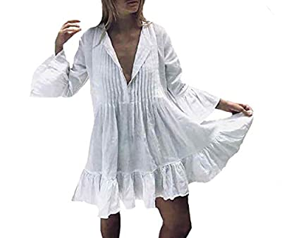 Bestyou Women's Embroidered Tunic Tops Rayon Blouses Bathing Suit Bikini Swimsuit Cover Up Swimwear Beachwear