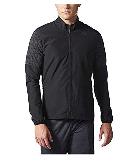 Adidas Men's Nova Running Jacket (Black, Medium)