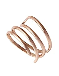 Acefeel Trendy Gold Plated Smooth Spiral Novelty jewelry Cool Women Girls Thumb Ring R270