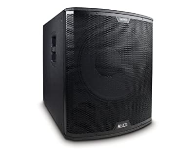 Alto Professional Black15S Active 1200W Subwoofer Control Class D Powered with Integrated DSP and LiveDrive Wireless App Control by Alto Professional
