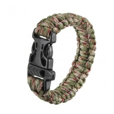 Bheema Multi-color Cord Outdoor Quick Release Survival Bracelet With Whistle