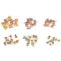 60 Pcs Spring Clips Fuel Hose Line Water Pipe Air Tube Clamps Fasteners(9mm,8mm,6mm,15mm,12mm,10mm) By Crqes