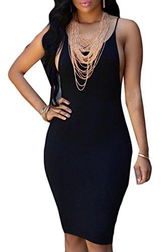 Jaycargogo Black Club Sexy Women's Mini Party Bodycon Night Dresses rq7rwO6