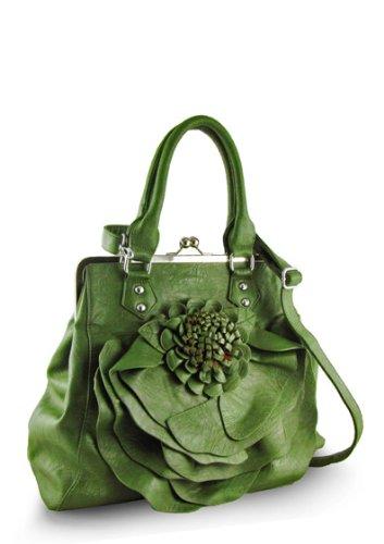 Flower Handbag (Green), Bags Central