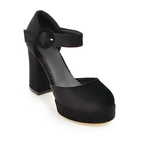BalaMasa Sandales Compensées Femme Noir Q6MisPL