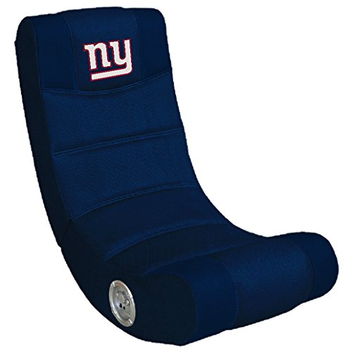 Imperial Officially Licensed NFL Furniture: Ergonomic Video Rocker Gaming Chair with Bluetooth, New York Giants