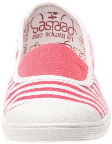 Le Temps des Cerises Basic 01/Stripe Damen Ballerinas Rosa (Rayure fuchsia/blanc (Stripe Fushia/white))