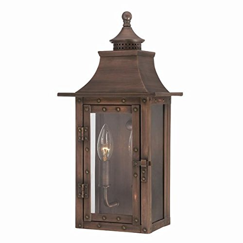 Copper Outdoor Wall Light - Acclaim 8302CP St. Charles Collection 2-Light Wall Mount Outdoor Light Fixture, Copper Patina