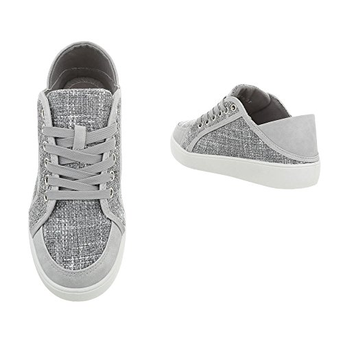 Damen Schuhe Freizeitschuhe Sneakers Grau
