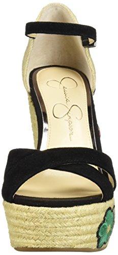 Sandal Simpson Women's Apella Jessica Suede Black Wedge nIqTTZ
