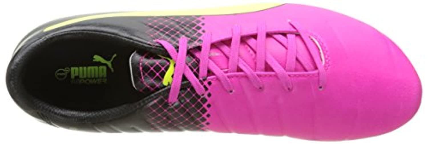 Puma evoPOWER 3.3 Tricks Firm Ground, Men's Football Boots, Multicolor (Pink Glo/Safety Yellow/Black), 6 UK (39 EU)