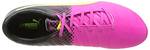 Puma evoPOWER 3.3 Tricks FG - Zapatillas de fútbol Hombre Rosa - Pink (pink glo-safety yellow-black 01)