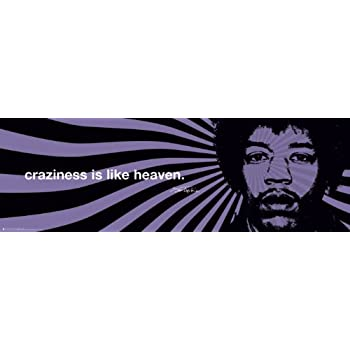 Amazoncom Jimi Hendrix Craziness Iphilosophy Quote Psychedelic