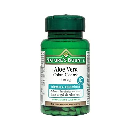 Aloe Vera Colon Cleanse 60 comprimidos de 330 mg de Natures Bounty