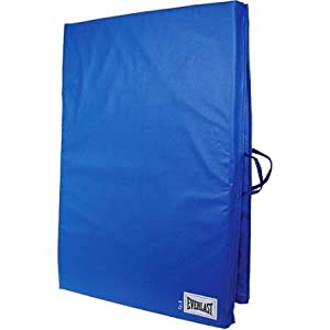 2' x 6' Folding Non Absorbent Shell Exercise Mat with Sewn Handle , Blue