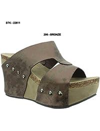 51d75746ad90 Women s Hester-7 Studded Platform Wedge Sandals. Pierre Dumas