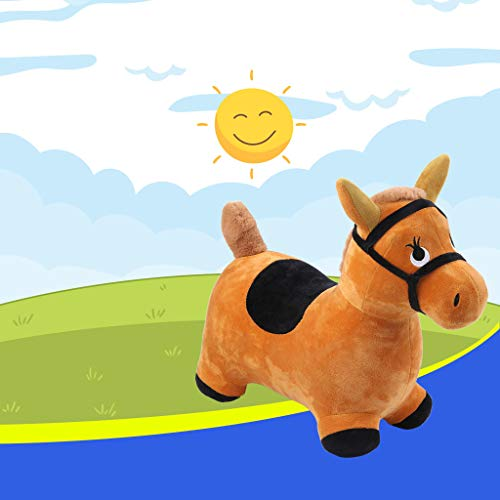 UMFun Hopping Horse Outdoors Ride On Bouncy Animal Play Toys Inflatable Hopper ()
