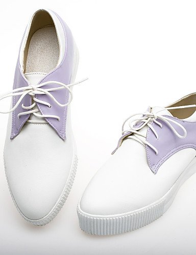 Rouge Similicuir Njx 7 Bleu Uk4 Chaussures Richelieu Décontracté 5 us6 Arrondi Talon Bout Noir Purple 5 Cn37 Violet Bas Hug Eu37 Femme 5 0nTrXO0