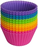 Pantry Elements Silicone Cupcake Liners / Baking Cups - 12 Vibrant Muffin ...