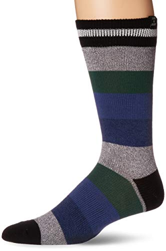- Life is Good Men's Crew Socks, One Size, Stripe Jake Camp Blue - Heavy Gauge