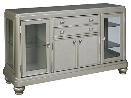 Ashley Furniture Signature Design – Leahlyn Dining Room Server – Old World Traditional Design – Silver Review