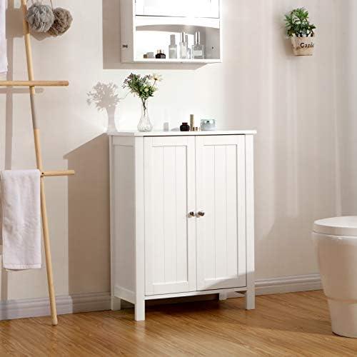 home, kitchen, furniture, bathroom furniture,  bathroom sets 9 on sale VASAGLE Bathroom Floor Storage Cabinet with Double Door deals