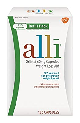 alli Weight Loss Aid Orlistat 60 mg Capsules,120 Count by alli